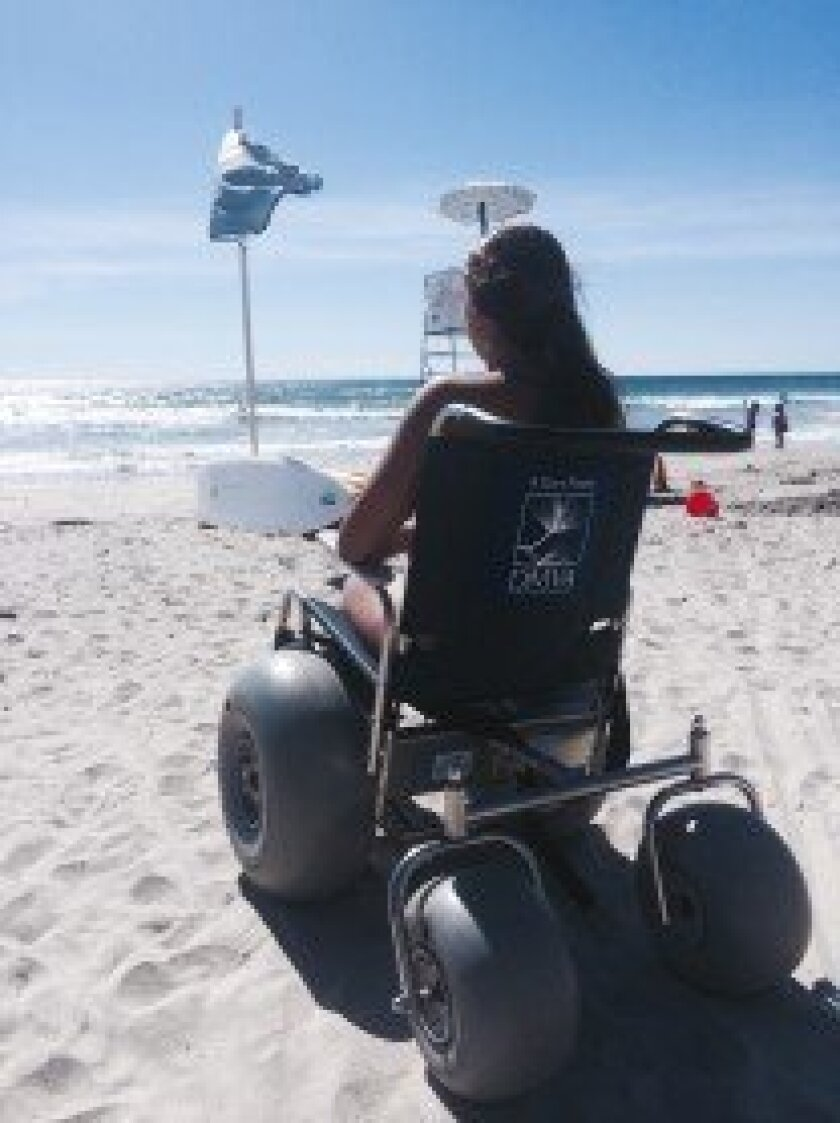 The DMVA was able to purchase and donate two fat-tire beach-access wheelchairs for Operation Rebound.