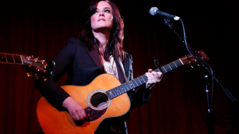 Country music singer and songwriter Brandy Clark performs at the Hotel Cafe in Hollywood earlier this year.