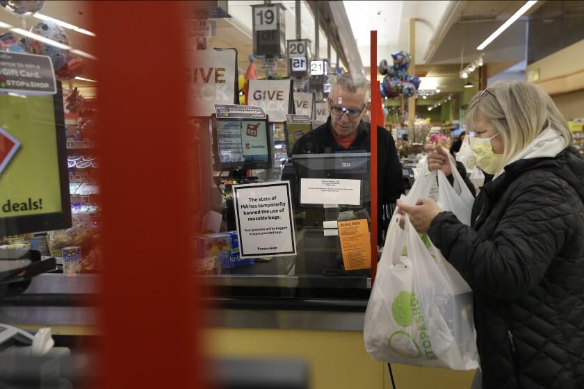 Virus Outbreak Grocery Shields