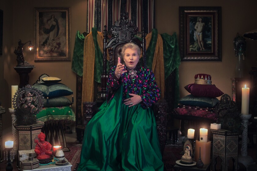 """An image from """"Mucho Mucho Amor: The Legend of Walter Mercado"""" on Netflix."""