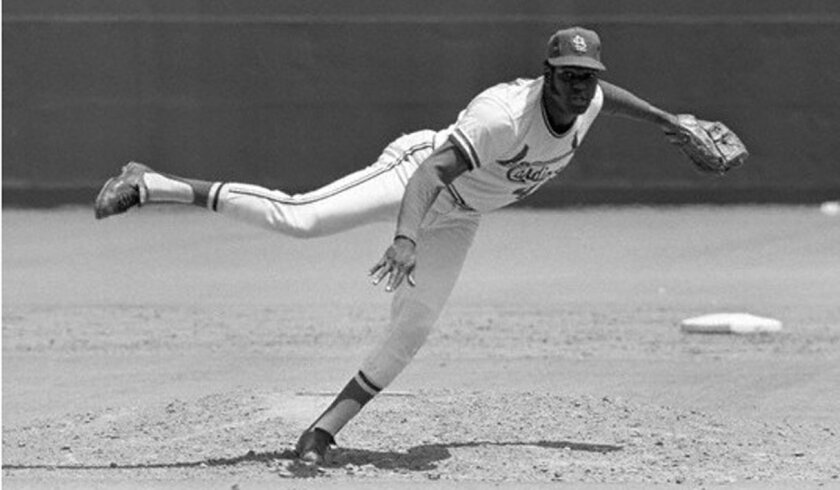 St. Louis Cardinals pitcher Bob Gibson made a pretty good closer in the 1965 All-Star Game at Metropolitan Stadium.
