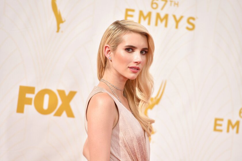 Emma Roberts' hair at the 67th Primetime Emmy Awards channeled Old Hollywood glamour.