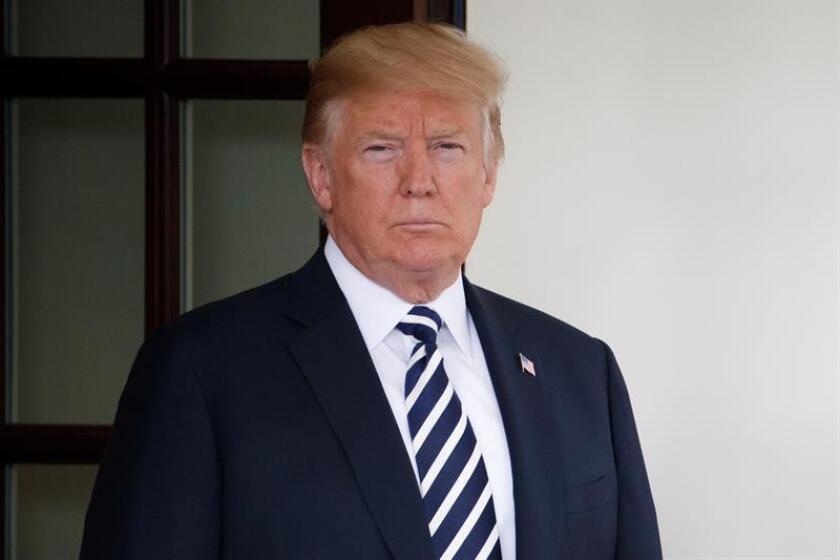 El presidente de EE.UU, Donald Trump en la Casa Blanca, en Washington (EE.UU). EFE/Archivo