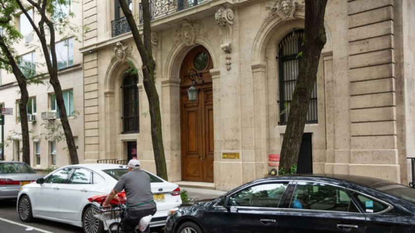 La residencia de Jeffrey Epstein en East 71st Street, en el Upper East Side de Manhattan (Kevin Hagen / Getty Images).
