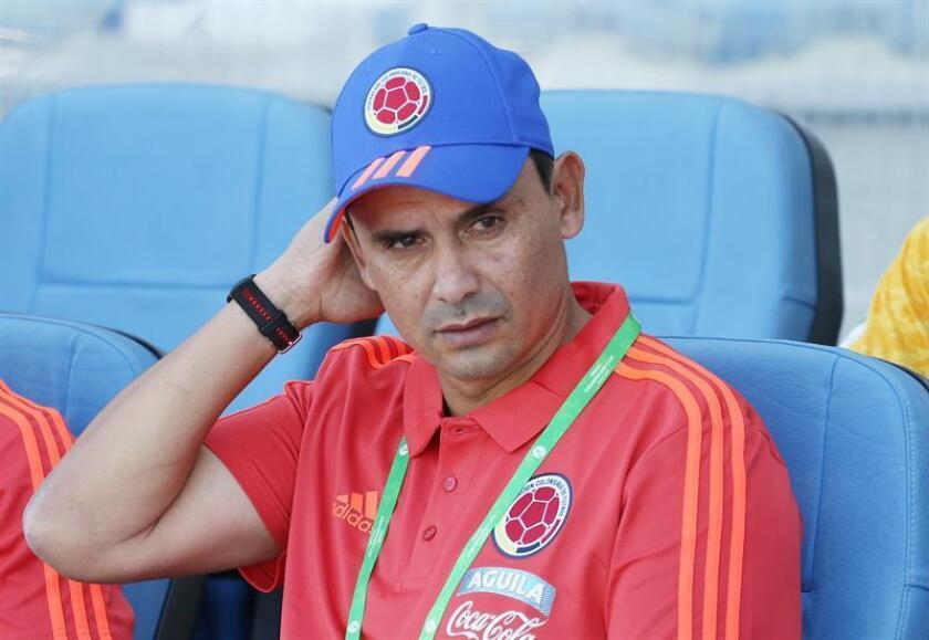 En la imagen, el seleccionador sub'20 de Colombia, Arturo Reyes. EFE/Archivo