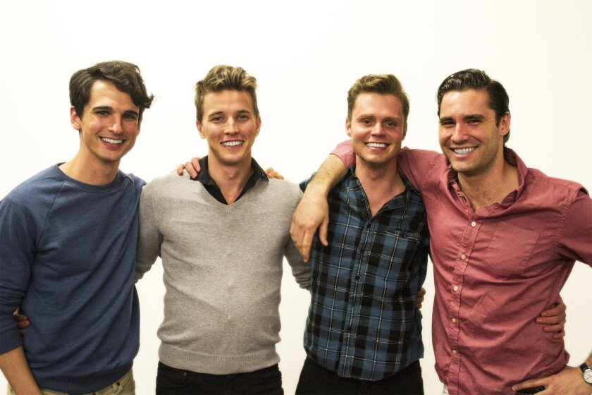 """Tyler Lea, Dave Thomas Brown, John Evans Reese and Christian Daly star in Cygnet Theatre's """"Shakespeare's R&J."""""""