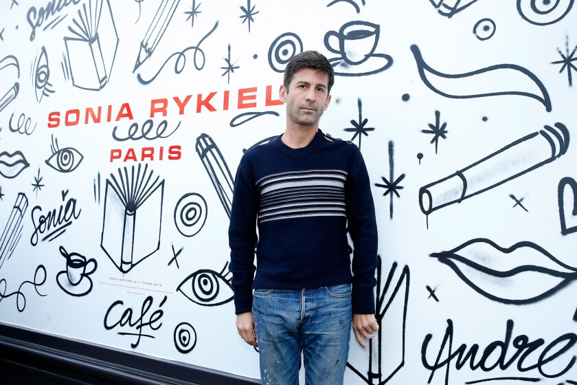 Artist Andre Saraiva attends the Sonia Rykiel show as part of the Paris Fashion Week on March 9, 2015, in Paris, France.