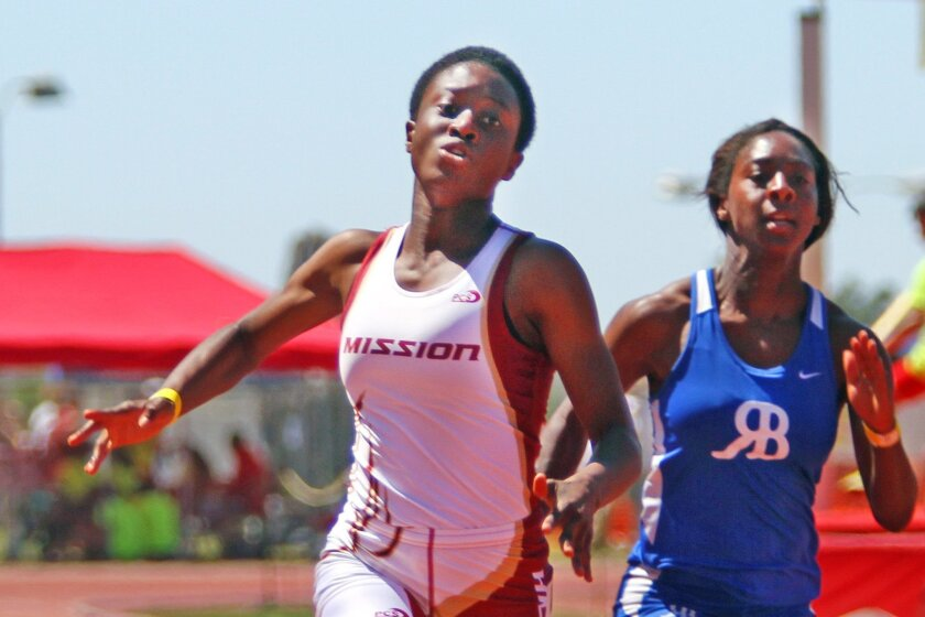 Mission Hills senior Suzie Acolatse leads the San Diego Section in the 100- and 200-meter sprints.