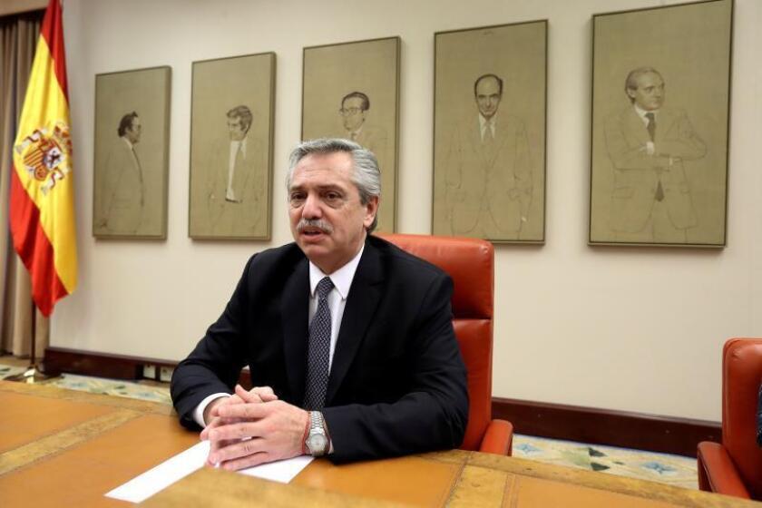 El candidato a la presidencia de la República Argentina, Alberto Fernández. EFE/ Kiko Huesca/Archivo