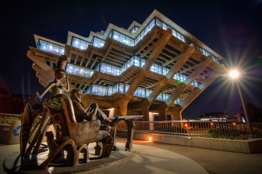 The Geisel Library is a highlifht of the campus of UC San Diego.