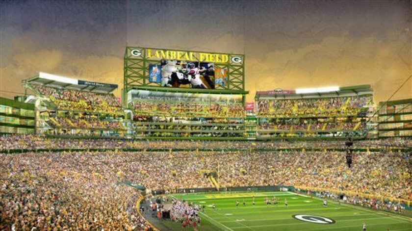 Packers To Add 6 600 Seats At Lambeau Field By 13 The San Diego Union Tribune