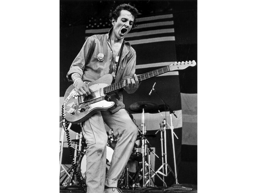 Sept. 9, 1979. Joe Strummer of the Clash appearing at a music festival at the Monterey Fairgrounds.
