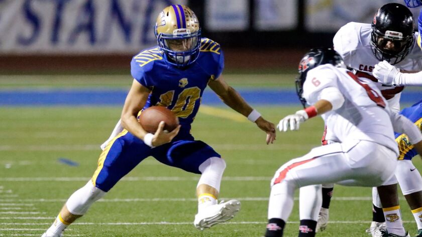 San Pasqual QB Westin Erdman has rushed for 537 yards and 10 touchdowns while passing for 1,039 yards and nine TDs this season.
