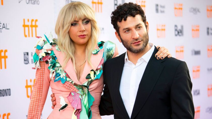 Lady Gaga and director Chris Moukarbel arrive for the premiere of the documentary at the Toronto Int