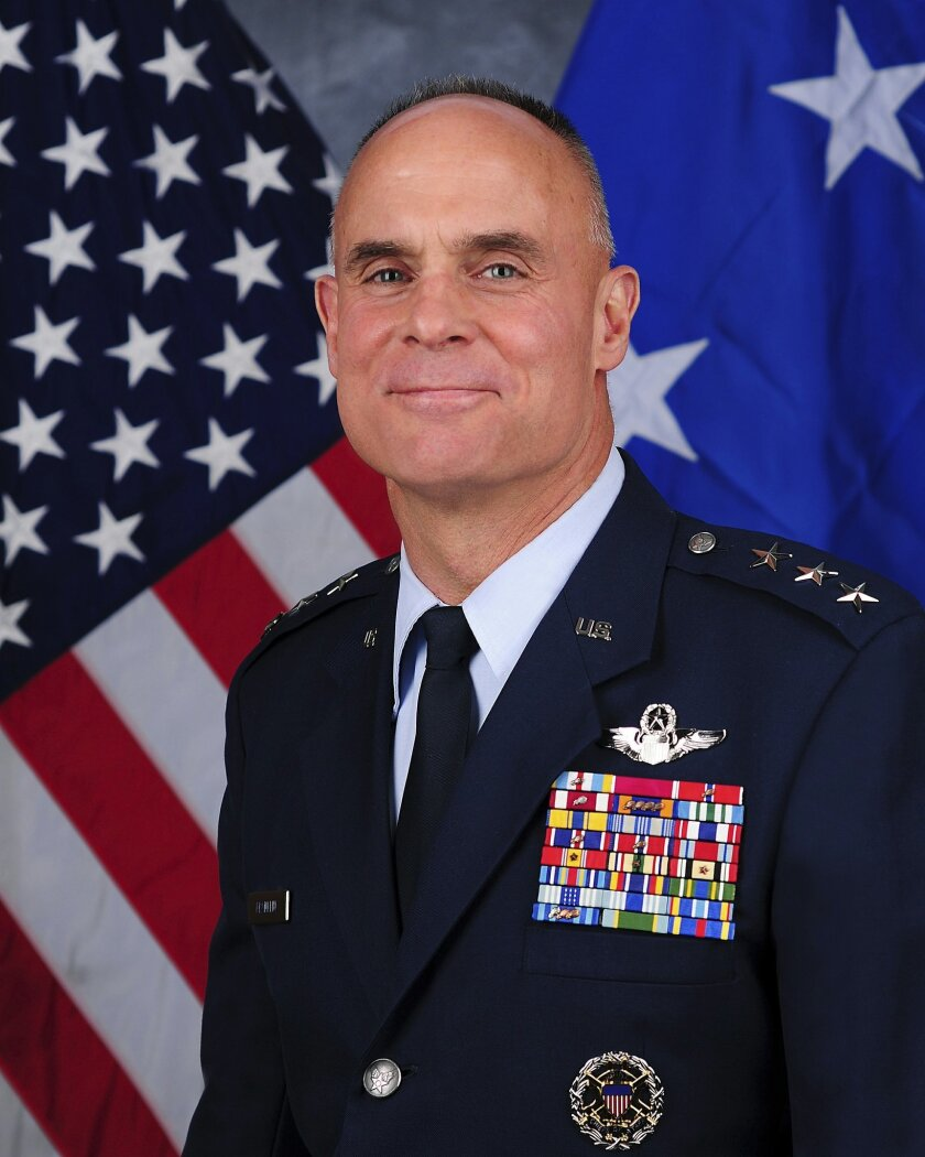 FILE - This undated file photo provided by the U.S. Air Force shows Lt. Gen. Craig Franklin. Franklin, the Air Force commander whose decision to overturn a sexual assault conviction led to major changes in military policy has decided to retire. Air Force officials said Franklin was retiring after m