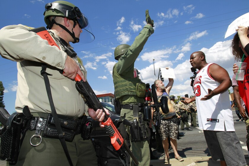 Police shooting protests