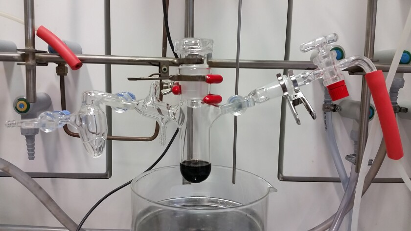 The reaction vessel used for chemically modifying biodiesel.