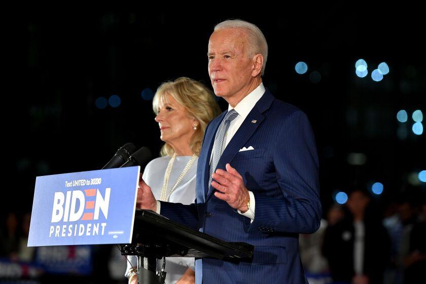 Former Vice President Joe Biden with wife Jill