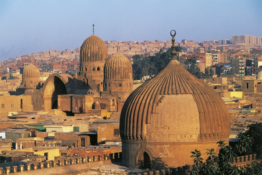 Tombs of the Caliphs are striking symbols of the City of the Dead in Cairo.