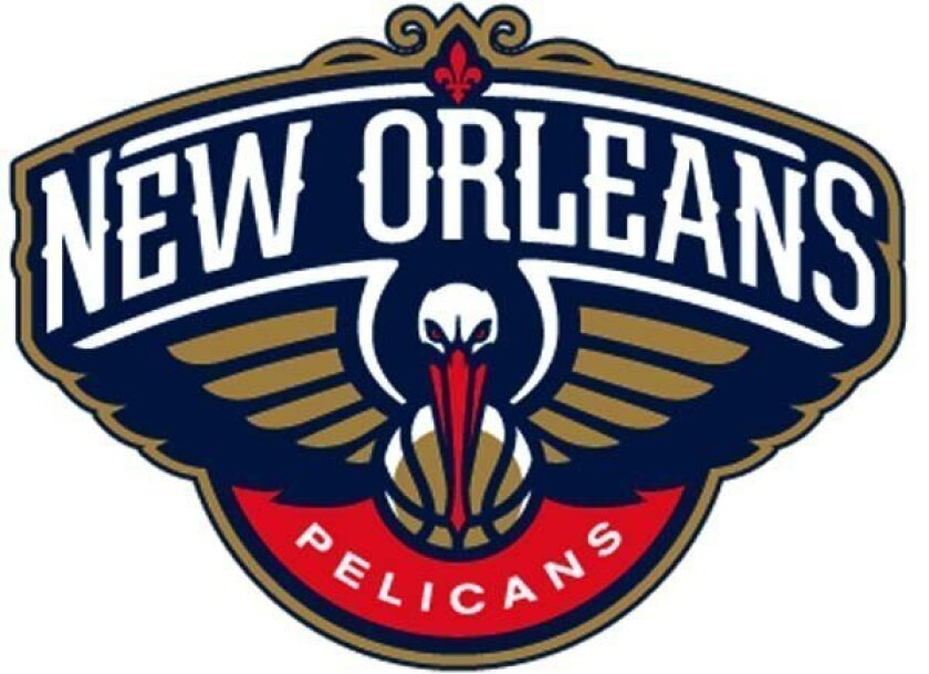 The logo of the New Orleans Pelicans, who will come into existence next NBA season.