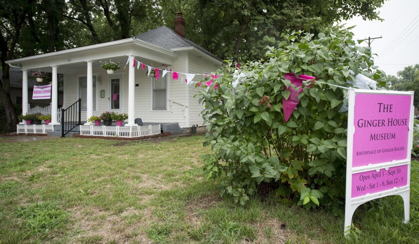 Birthplace of Ginger Rogers opens as museum