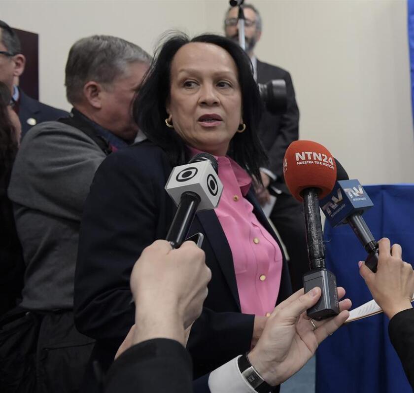 Fotografía de la representante venezolana ante la OEA, Carmen Velásquez. EFE/ARCHIVO