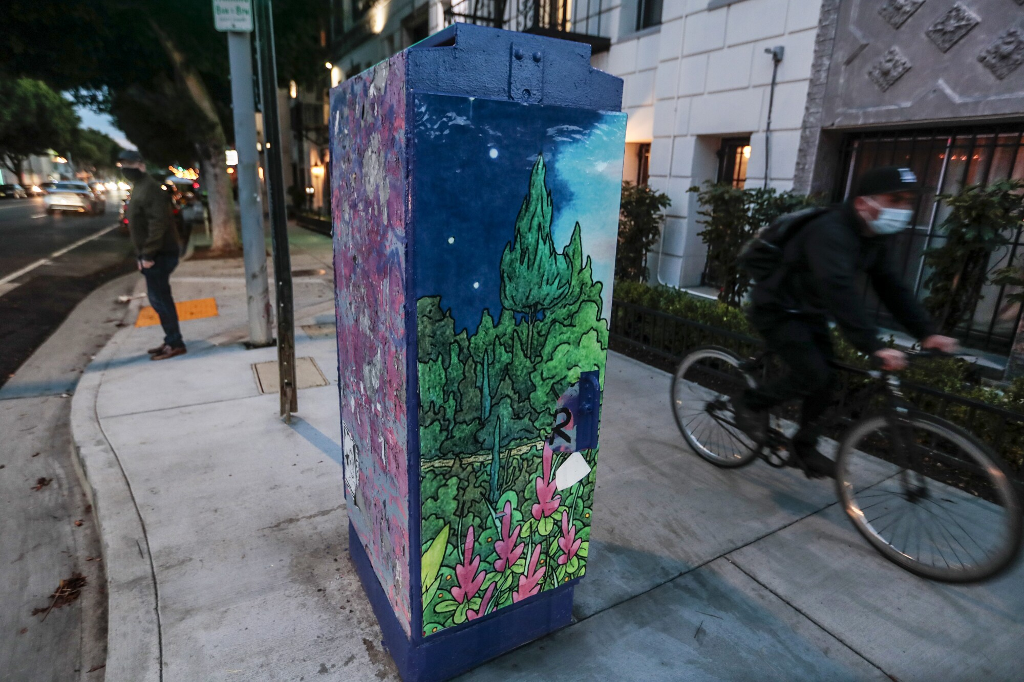 Artist Terrance Whitten's work was commissioned to adorn a Silverlake power box