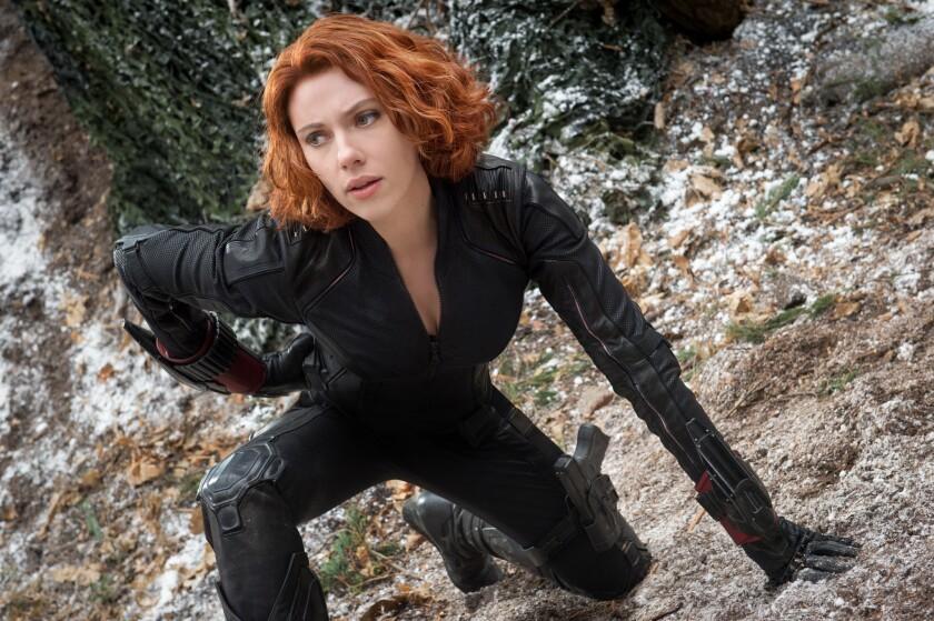 """Scarlett Johansson as Black Widow in """"Avengers: Age of Ultron."""""""
