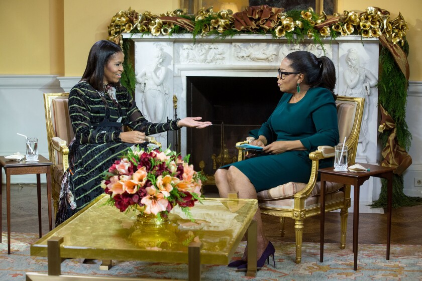 Oprah and Michelle Obama