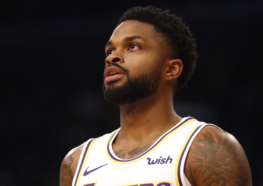 Former Laker Troy Daniels, now a member of the Denver Nuggets, doesn't have a home basketball court so he has been unable to shoot during the NBA shutdown.