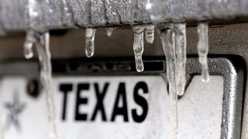 The temperature fell below freezing Tuesday in Houston.