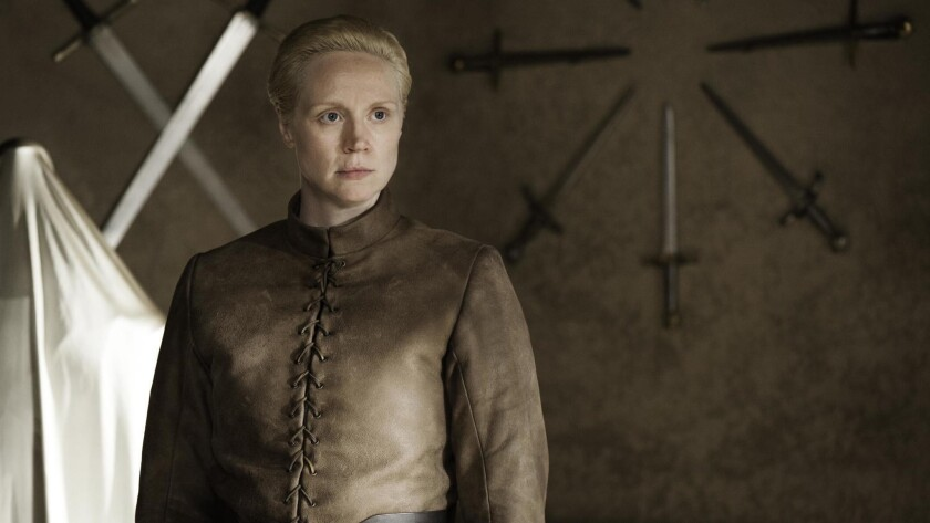 GAME OF THRONES episode 34 (season 4, episode 4): Gwendoline Christie. photo: Helen Sloan/courtes
