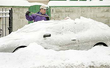 Car frozen