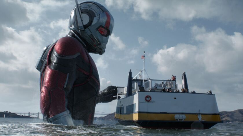 """Ant-Man (Paul Rudd) in a scene from Marvel Studios """"Ant-Man and the Wasp."""" Photo: Film Frame ©Marvel Studios 2018"""