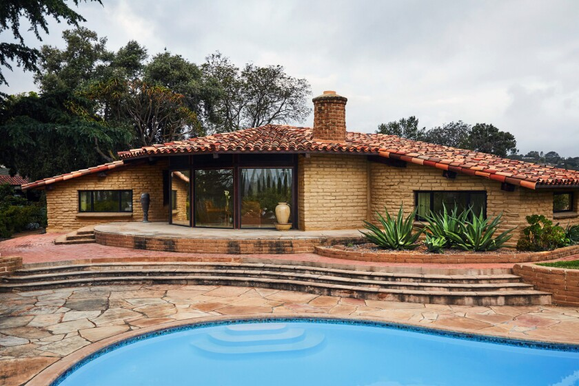 KAUFMAN ADOBE: This house, like many Weir Brothers homes in Escondido, was built with a pool.
