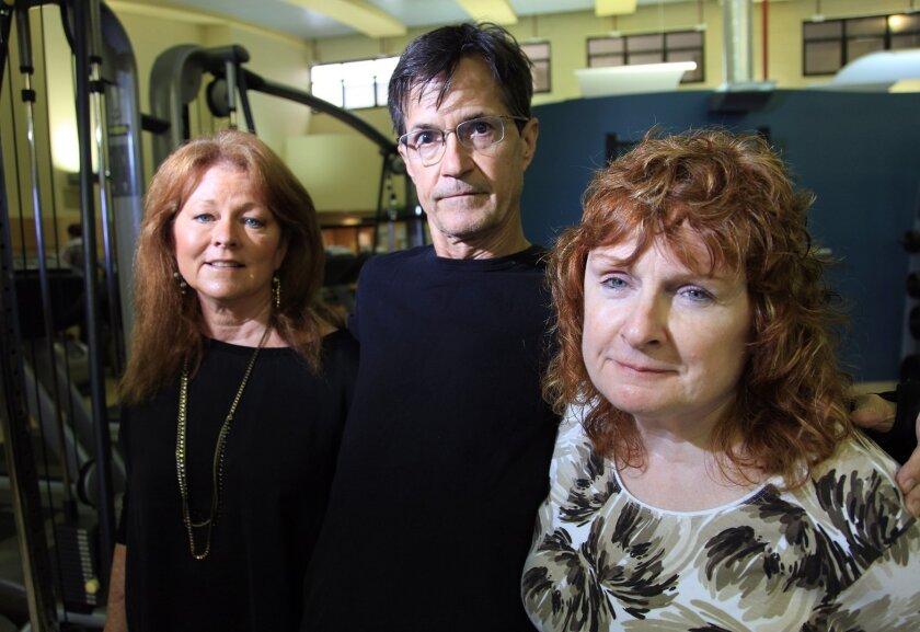 From left: Parkinson's patients Jenifer Raub, Bill Maddox and Cassandra Peters are part of Summit for Stem Cell, a fundraising committee helping to raise money for a stem cell treatment with Parkinson's disease.