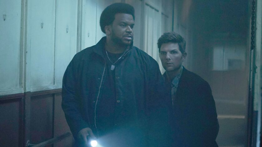 GHOSTED: L-R: Craig Robinson and Adam Scott in GHOSTED premiering this fall on FOX. ©2017 Fox Broad
