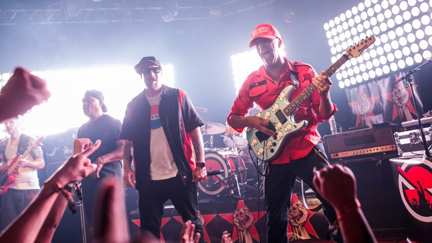 Prophets of Rage performs May 31 at the Whisky a Go Go in West Hollywood.