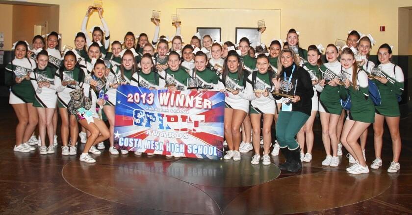 Costa Mesa High takes cheerleading honor