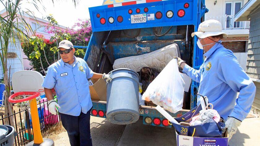Newport Beach city trash collectors