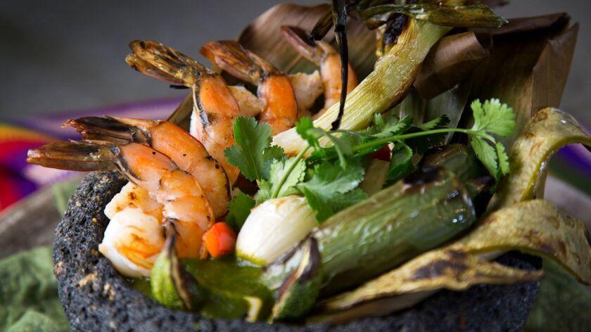 Shrimp Molcajete, prepared by Sara Polczynski.