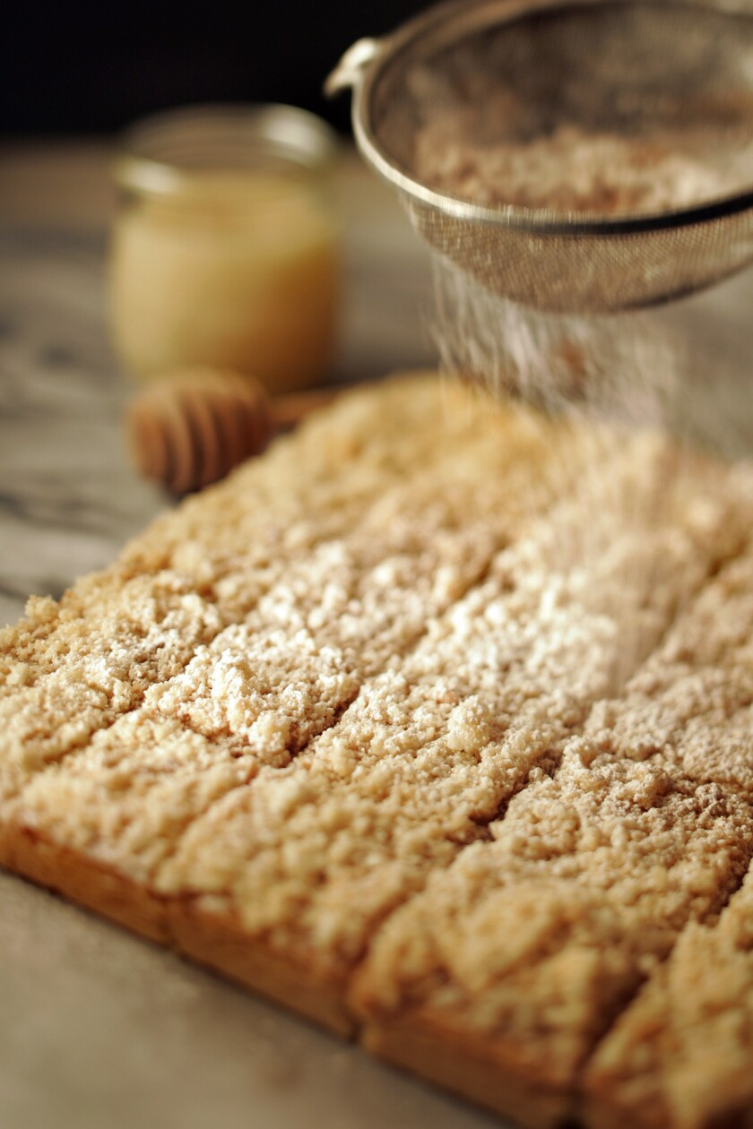 You'll have leftover crumble topping. Use it for sprinkling over ice cream.