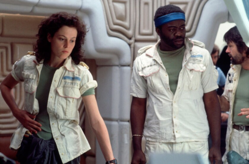 Sigourney Weaver, Yaphet Koto and Tom Skerritt in 'Alien'