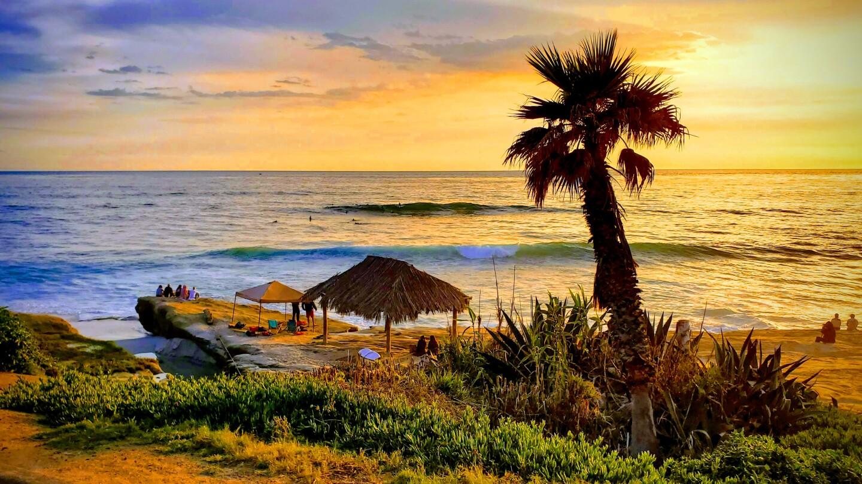 Travis Young captures a scene from Windansea Beach.