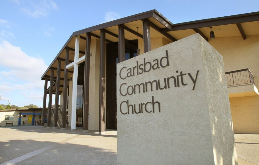 Exterior view of the 1,450 seat Worship Center of Carlsbad Community Church that was completed in 1991.