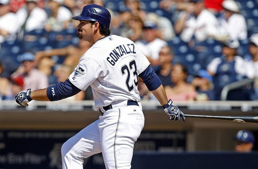 Rumor has it that Adrian Gonzalez and his sweet swing have been on the trading block for some time.
