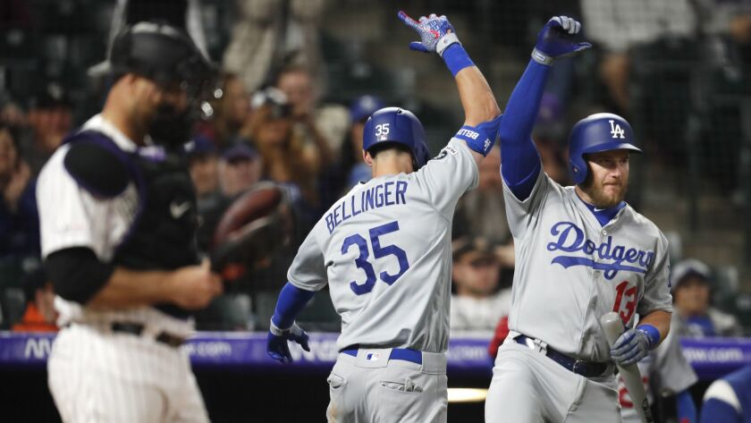 Chris Iannetta, Max Muncy, Cody Bellinger, cody bellinger, max muncy