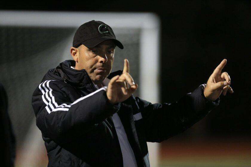 Coronado boys soccer coach Brian Hiatt-Aleu's team defeated San Diego 3-0 on Thursday.