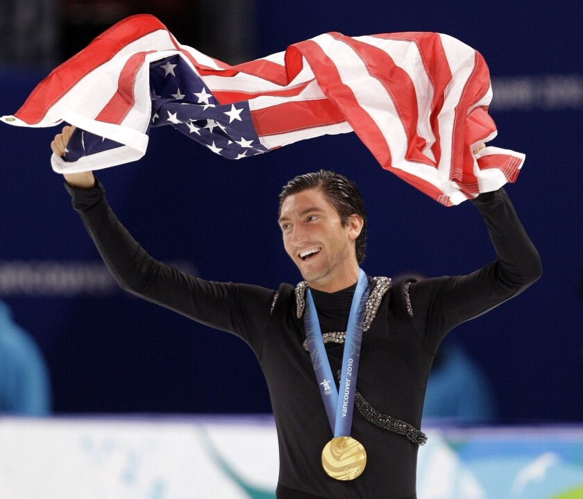 Evan Lysacek, shown after winning Olympic gold in 2010, will not compete at the Skate America Grand Prix event.