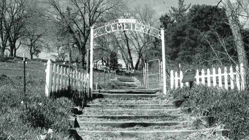 Julian Cemetery, where many pioneers of the mountain town were buried.